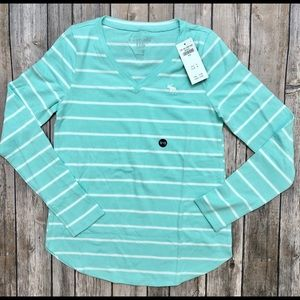 Abercrombie kids girls long sleeve shirt NWT